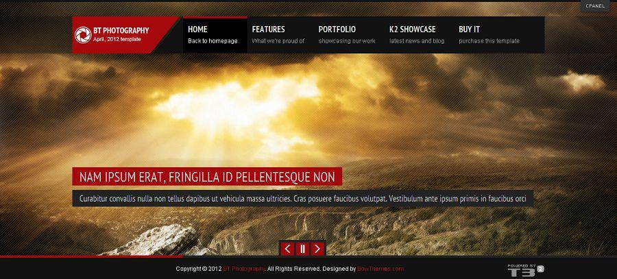 BT Photography - Premium Joomla Portfolio Template