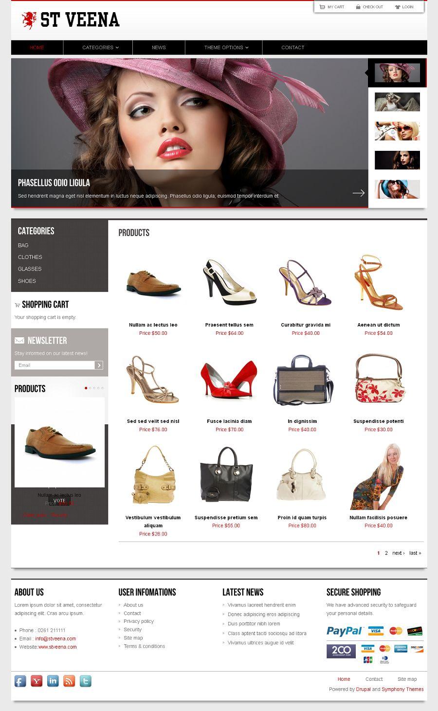 Veena - Premium Drupal eCommerce Theme