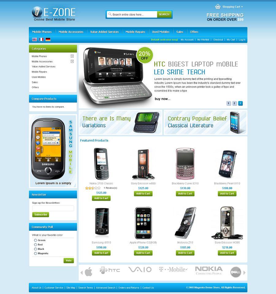 MAG080124 - Premium Magento Mobile Store Template