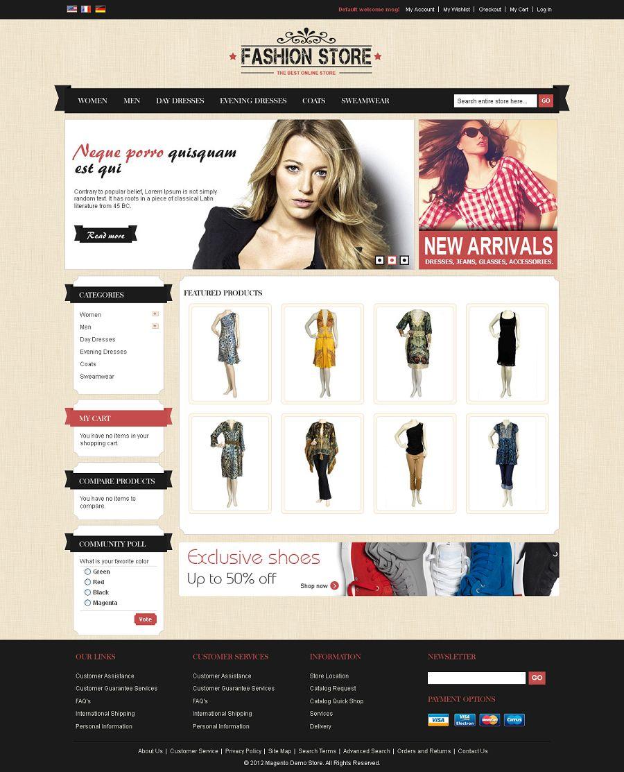 MAG080138 - Premium Magento Fashion Store Template