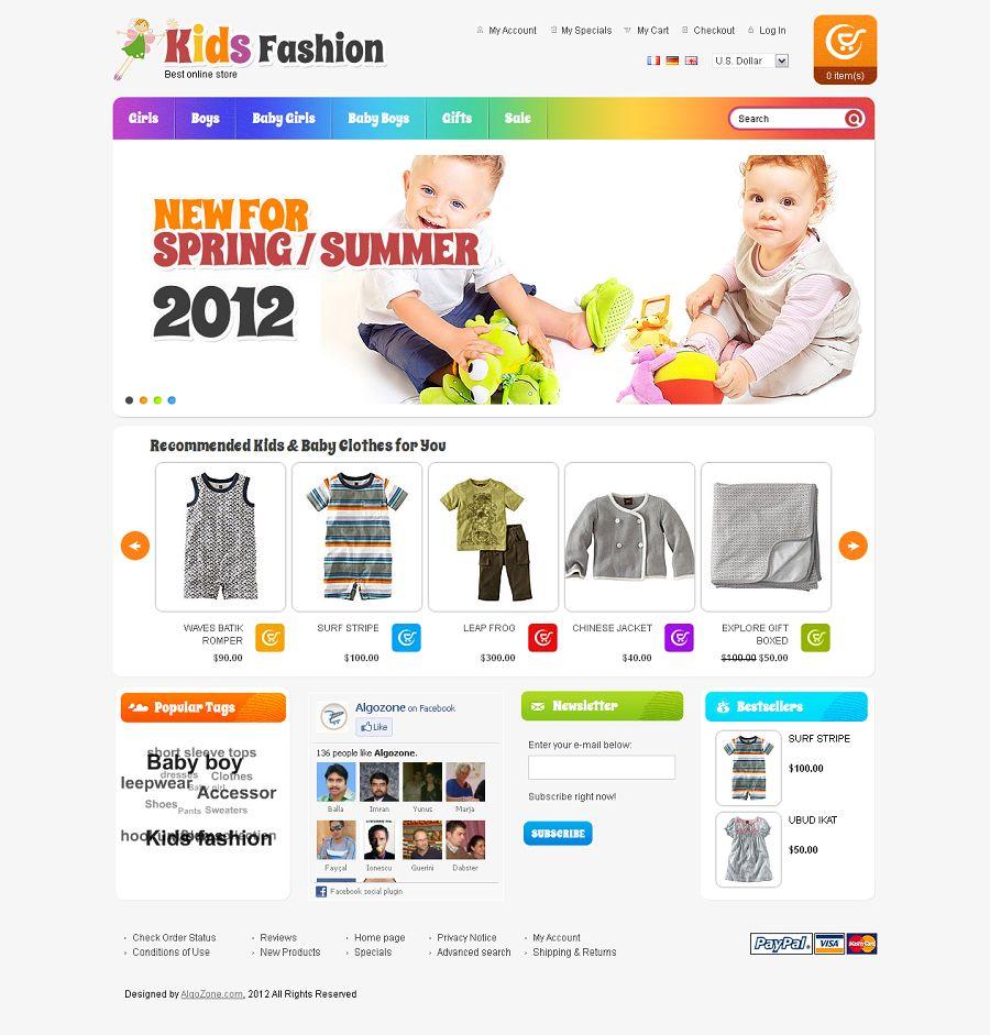OS23130008 - Premium Kids Fashion Store osCommerce Template