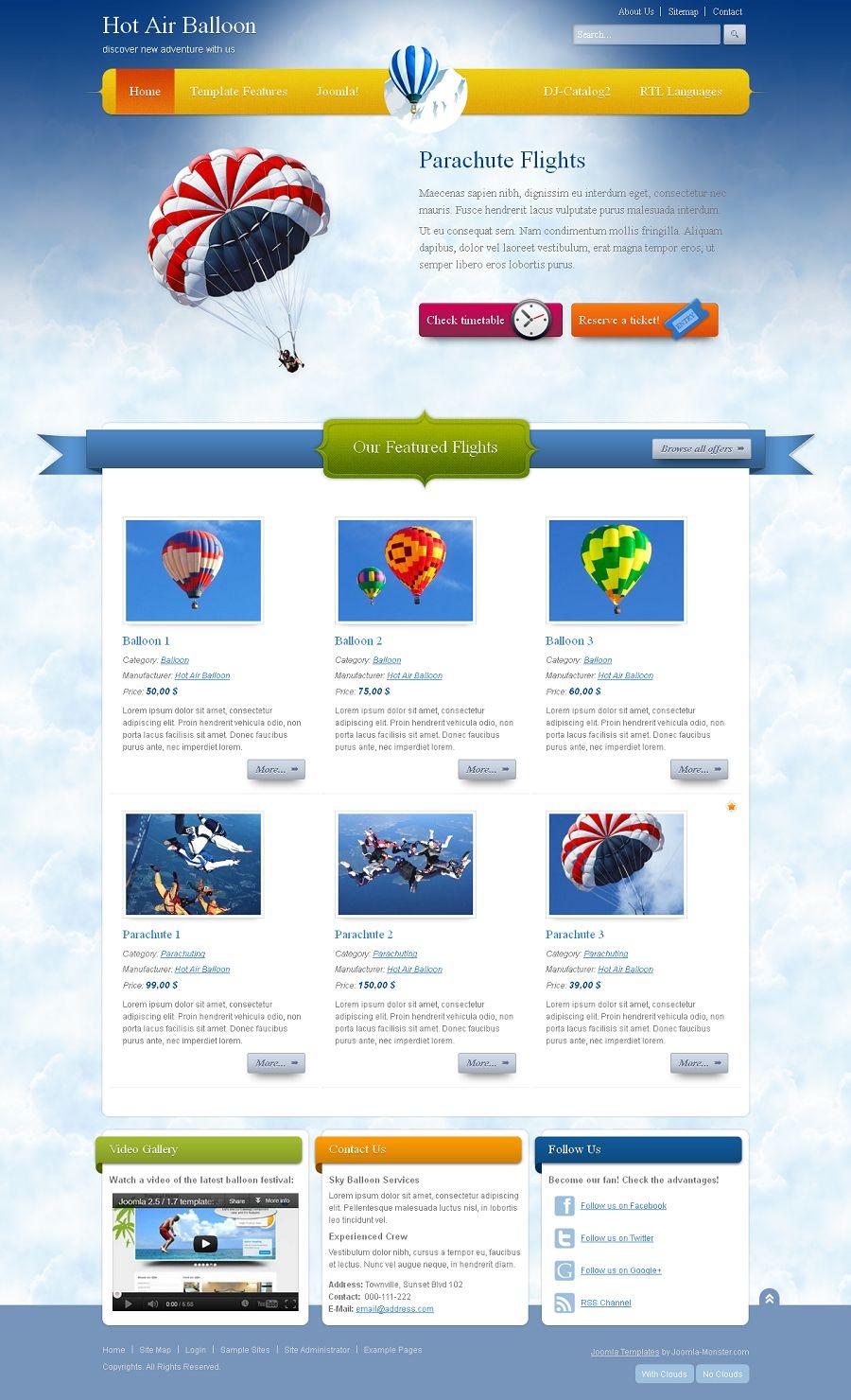JM-Balloon - Premium Joomla Template for Travel, Adventure