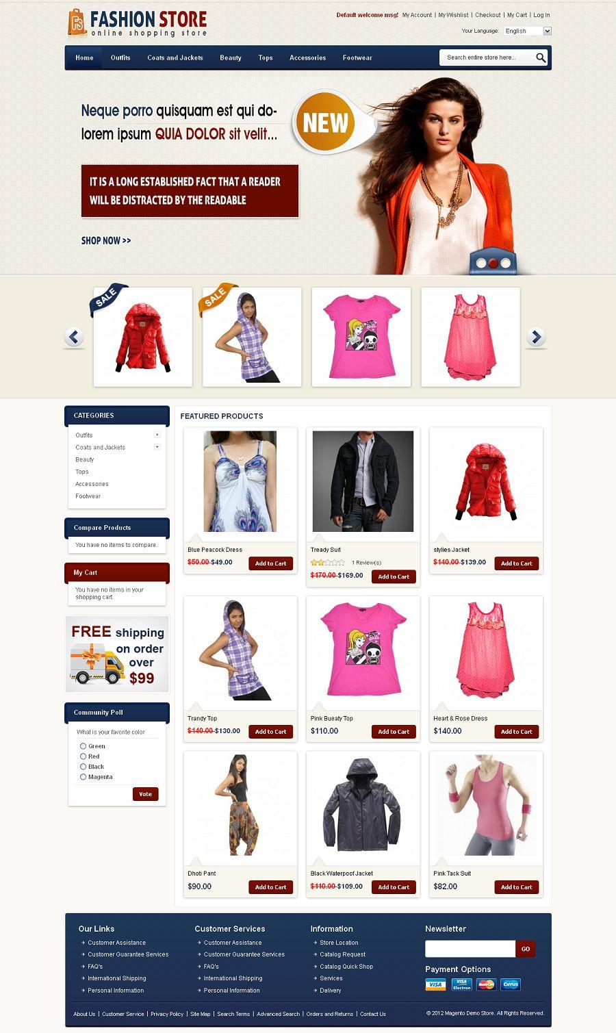 Mag080149 premium magento fashion store template pronofoot35fo Choice Image