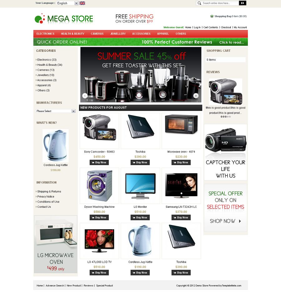 OSC010024 - Premium OSCommerce Mega Store Template