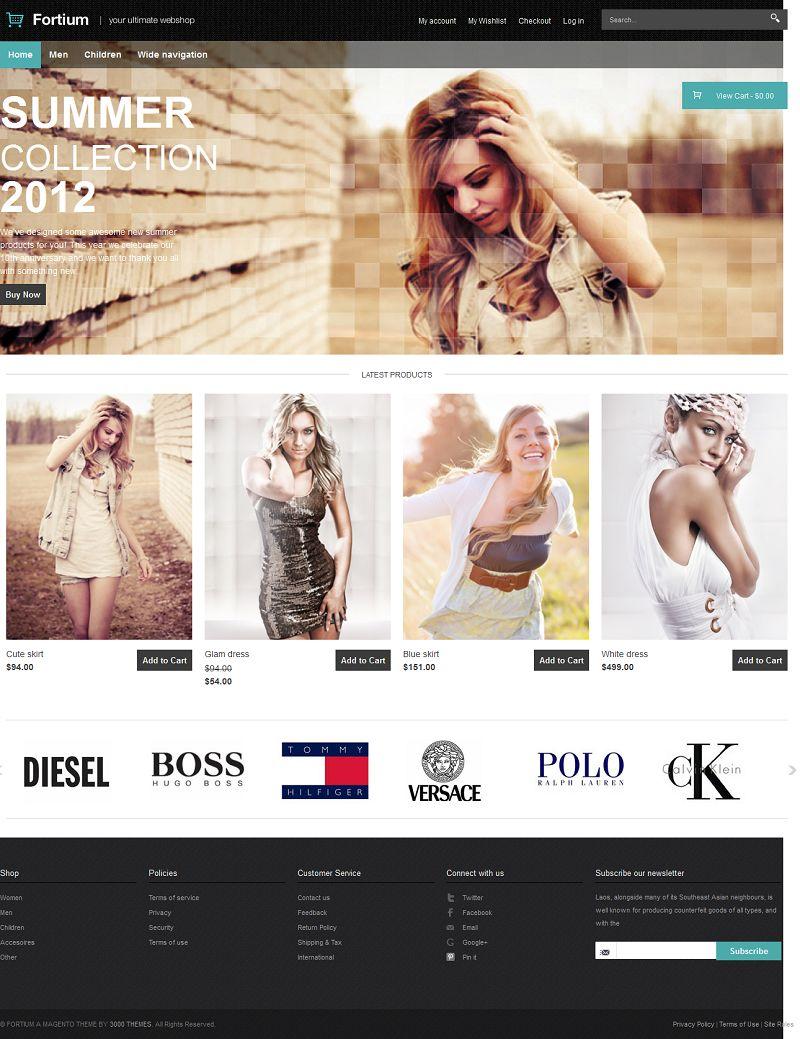 Fortium - Responsive Magento Fashion Store Theme