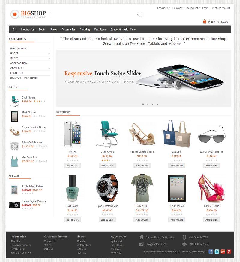 Bigshop multi purpose responsive opencart theme maxwellsz