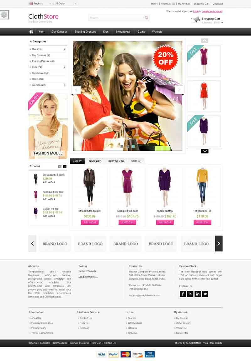 OPC050125 – Cloth Store