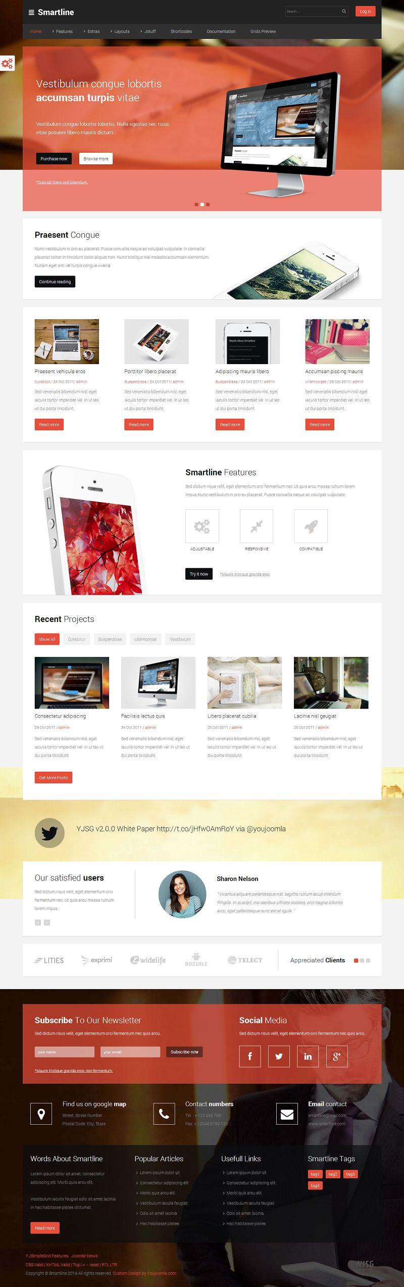 smartline responsive joomla business template. Black Bedroom Furniture Sets. Home Design Ideas