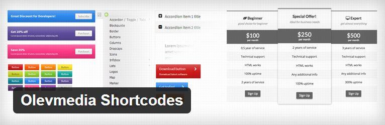 Olevmedia Shortcodes